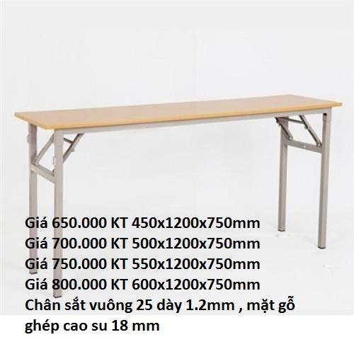 bàn gấp chân sắt