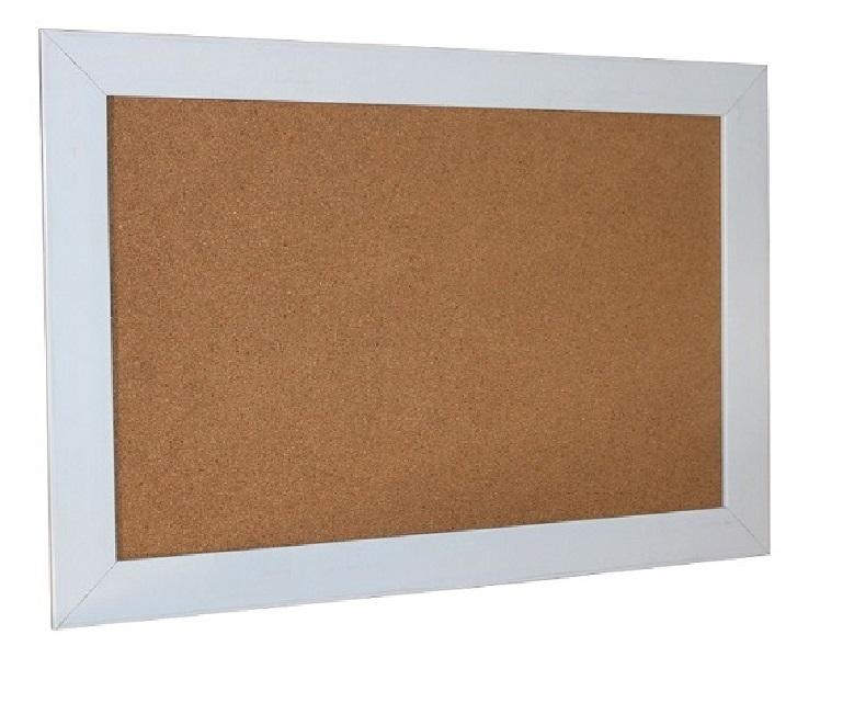 Bảng ghim bần khung nhựa giả gỗ treo tường